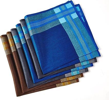 Pañuelos para hombre, 100% algodón suave, paquete de 6 8 Talla ...