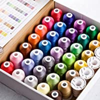 Simthread Polyester Embroidery Machine Thread 40 Colors 1000 mtrs Each for Brother Babylock Janome Singer