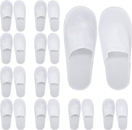 24 Disposable Spa Hotel Slippers, Bulk