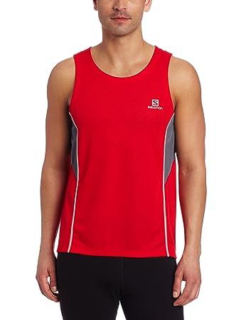 Camiseta Regata Salomon Masculina Trail Vermelha cinza G  Amazon.com ... 22dad1176f6