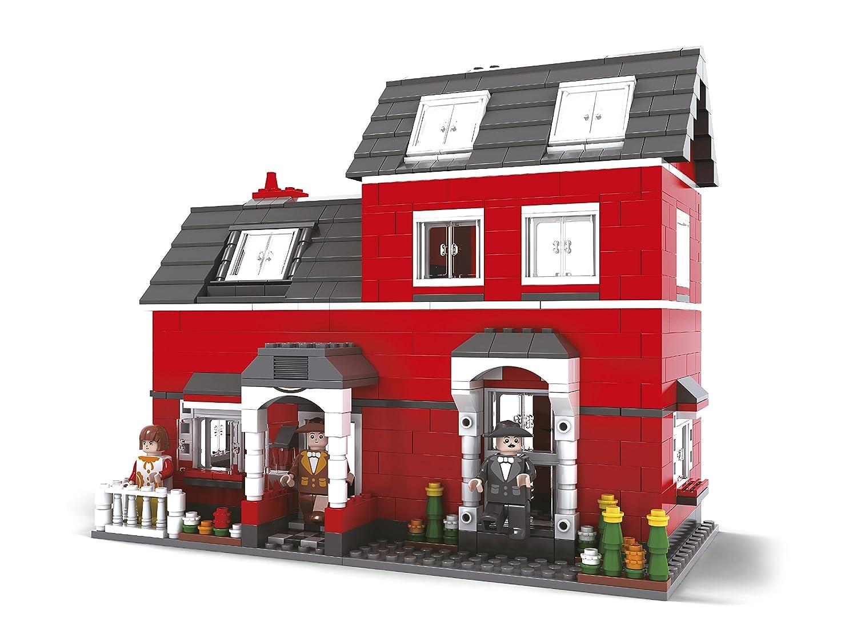 BRICTEK Childrens Builder Red House Interlocking Building Brick Toy 21601