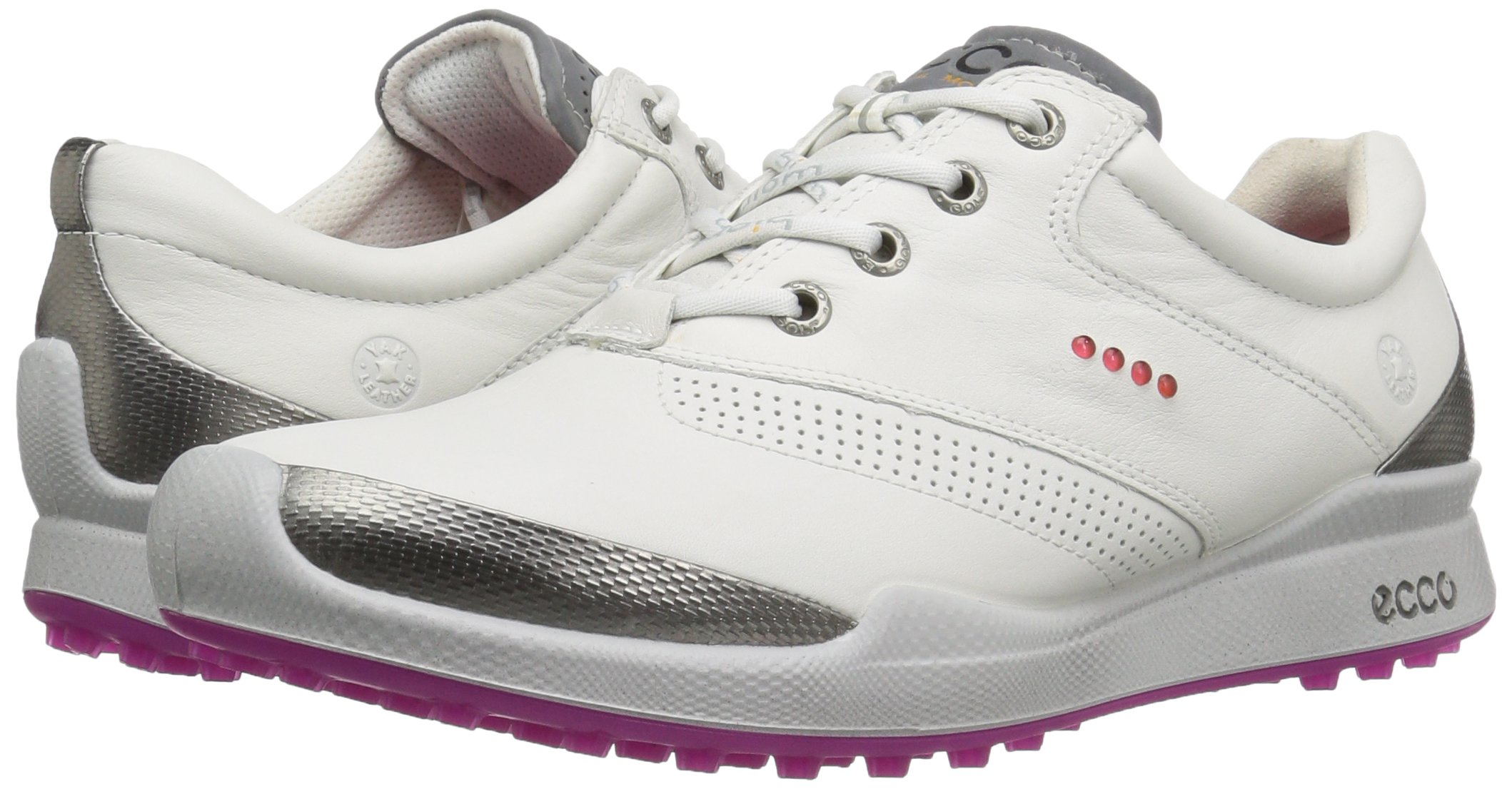 ECCO Women's Biom Hybrid Hydromax Golf Shoe, White/Candy, 39 EU/8-8.5 M US by ECCO (Image #6)