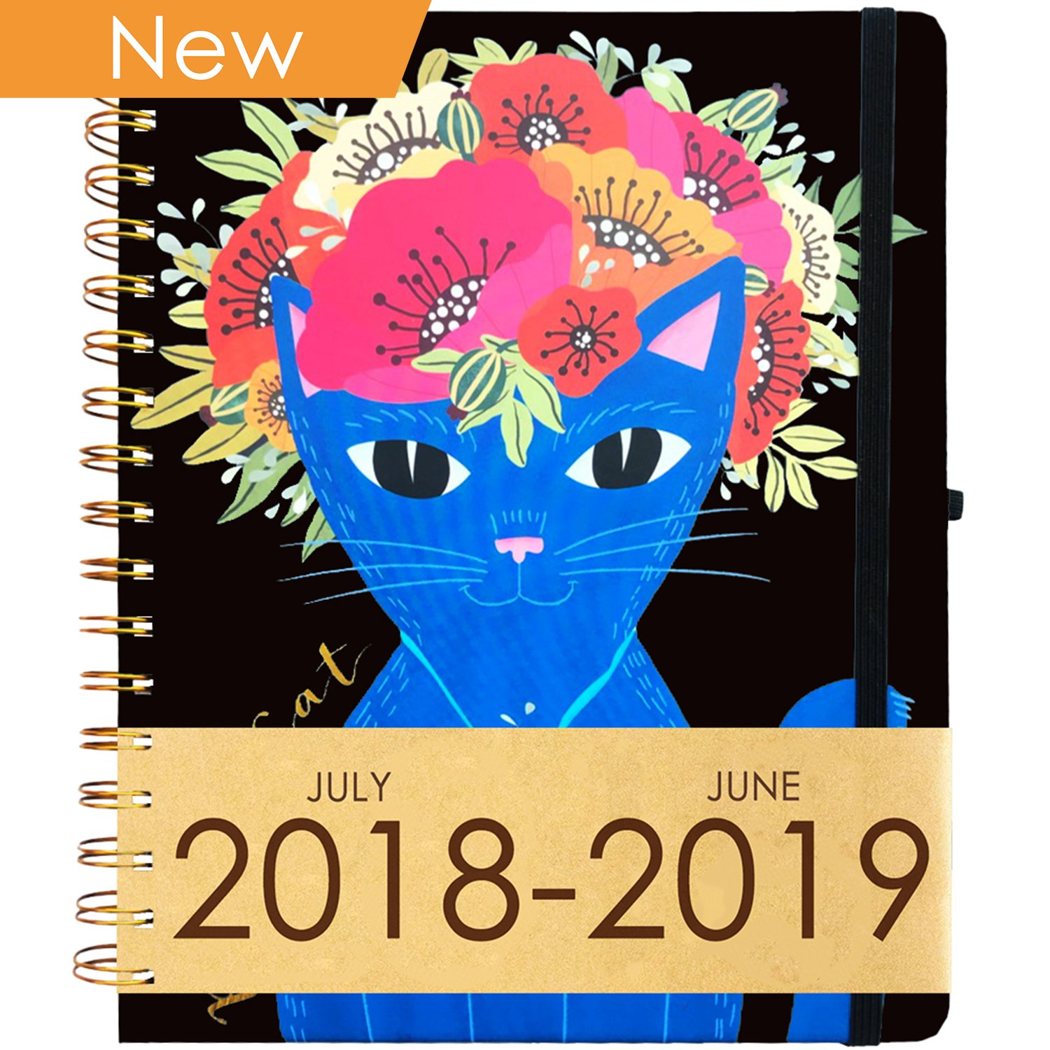Planner 2018-2019 Academic Calendar Year (Dated Jul 18' - Jun 19') ~ Daily, Weekly, Monthly School Agenda ~ Purse-Size 9''x8'' ~ Boost Productivity for Moms, Teachers & Students ~ Hardcover Notebook