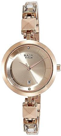Titan Raga Viva Analog Rose Gold Dial Women S Watch 2606wm01