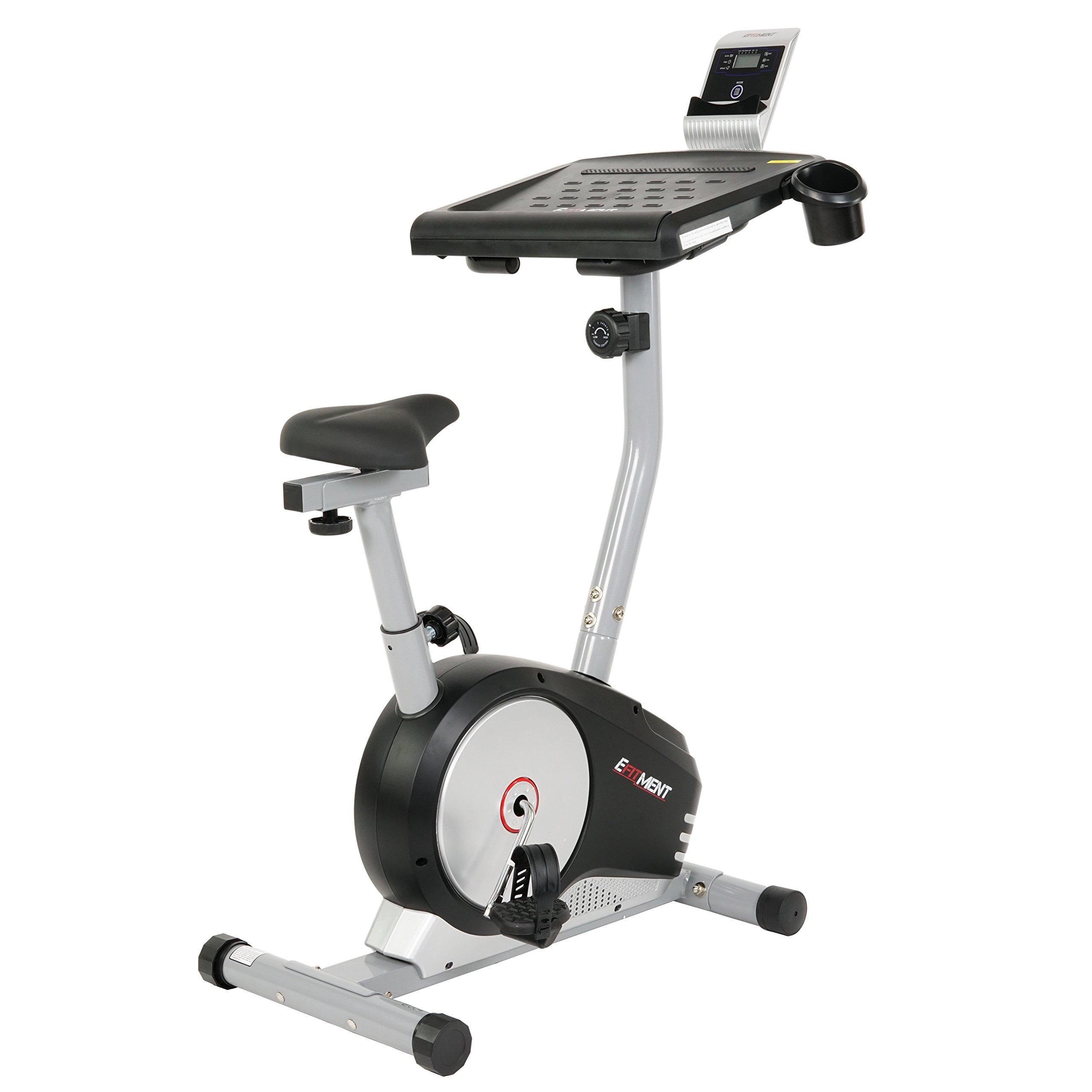 EFITMENT Workstation Desk Exercise Upright Bike, Desk Bike w/Table - B004