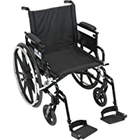 """Drive Medical Viper Plus Gt Wheelchair,flip Back,swing-away Footrests,18"""",1 Count"""