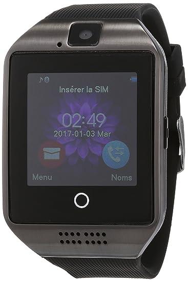 Montre Connectée, Bluetooth smartwatch Etanche avec SIM/TF Carte Caméra Ecran Tactile Sport Pédomètre Moniteur de Sommeil Bracelet compatible Samsung Huawei ...