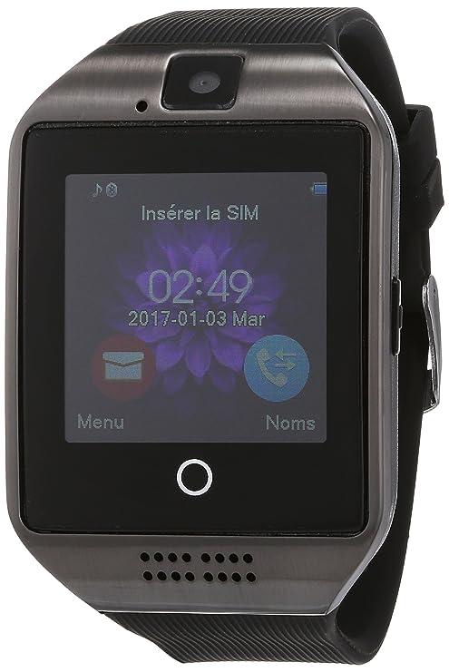 Reloj Inteligente, Smartwatch Bluetooth con SIM / TF Ranura Tarjeta Cámara Podómetros Deportivo Pantalla Táctil