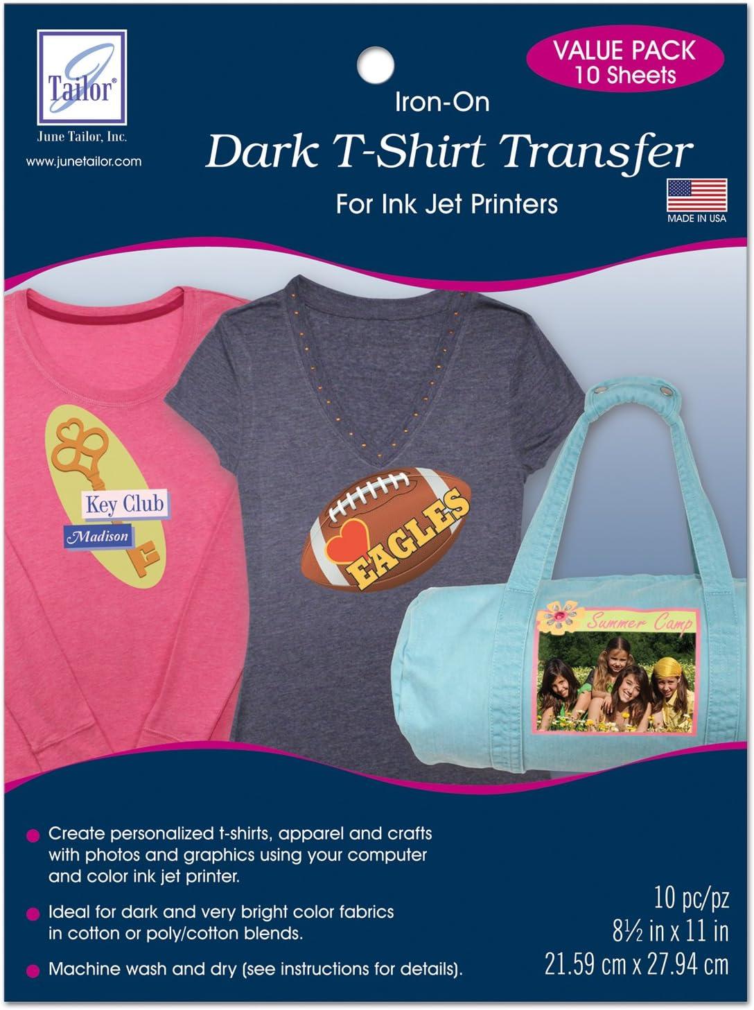 June Tailor Dark T-Shirt Transfer, 10-pack