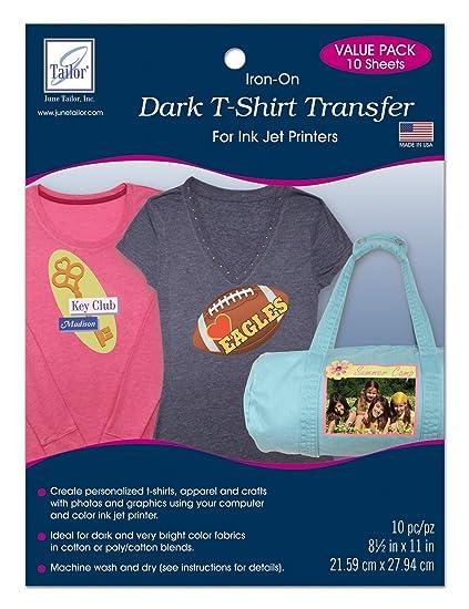 Amazon June Tailor Dark T Shirt Transfer 10 Pack Arts Crafts