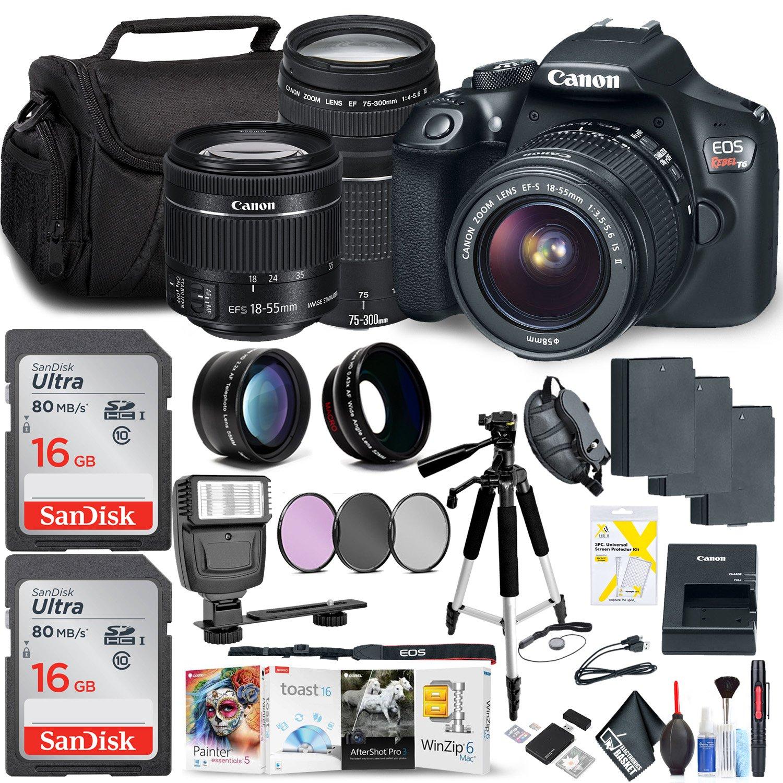 Amazon com : Canon Rebel T6 DSLR Camera 18-55mm Lens 75