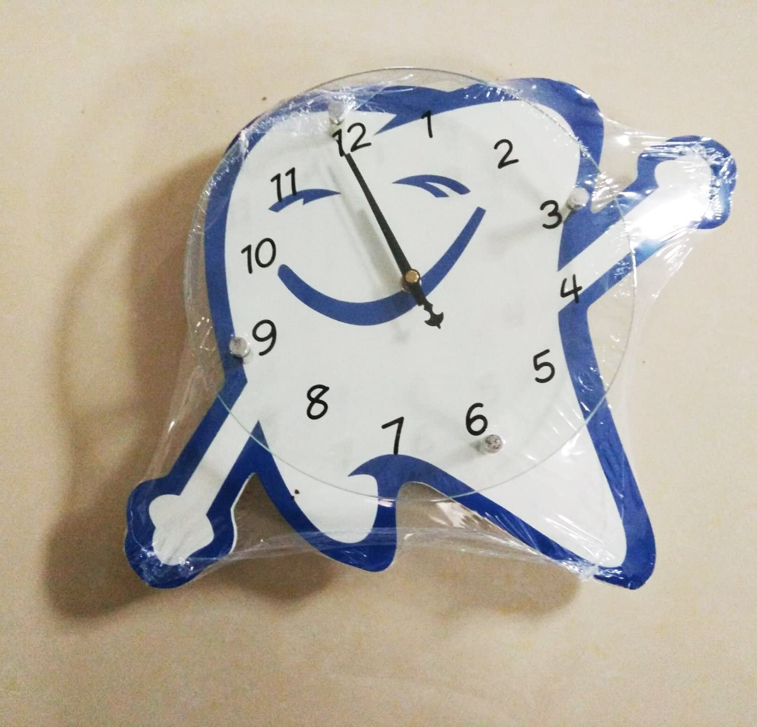 Teeth Shape Clock with Hands Teeth Mouth Dentis Dental Surgeon Gift Used for Dentistry Decoration