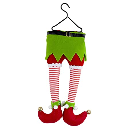 hanging plush elf legs christmas tree decoration - Elf Legs Christmas Decoration