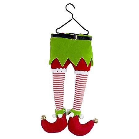 hanging plush elf legs christmas tree decoration - Elf Legs Christmas Decoration