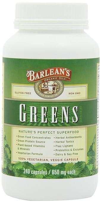 Amazon.com: De Barlean Aceites Orgánicos Barlean de verdes ...