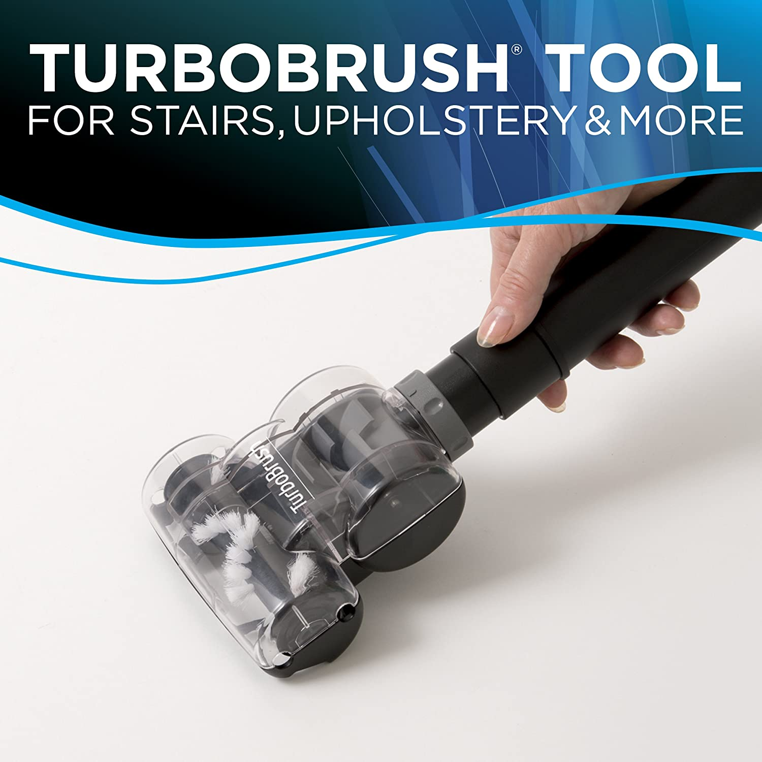 The useful turbobrush tool will work great on the product