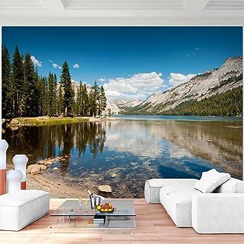 Fototapete Berge See Vlies Wand Tapete Wohnzimmer Schlafzimmer Büro Flur  Dekoration Wandbilder XXL Moderne Wanddeko