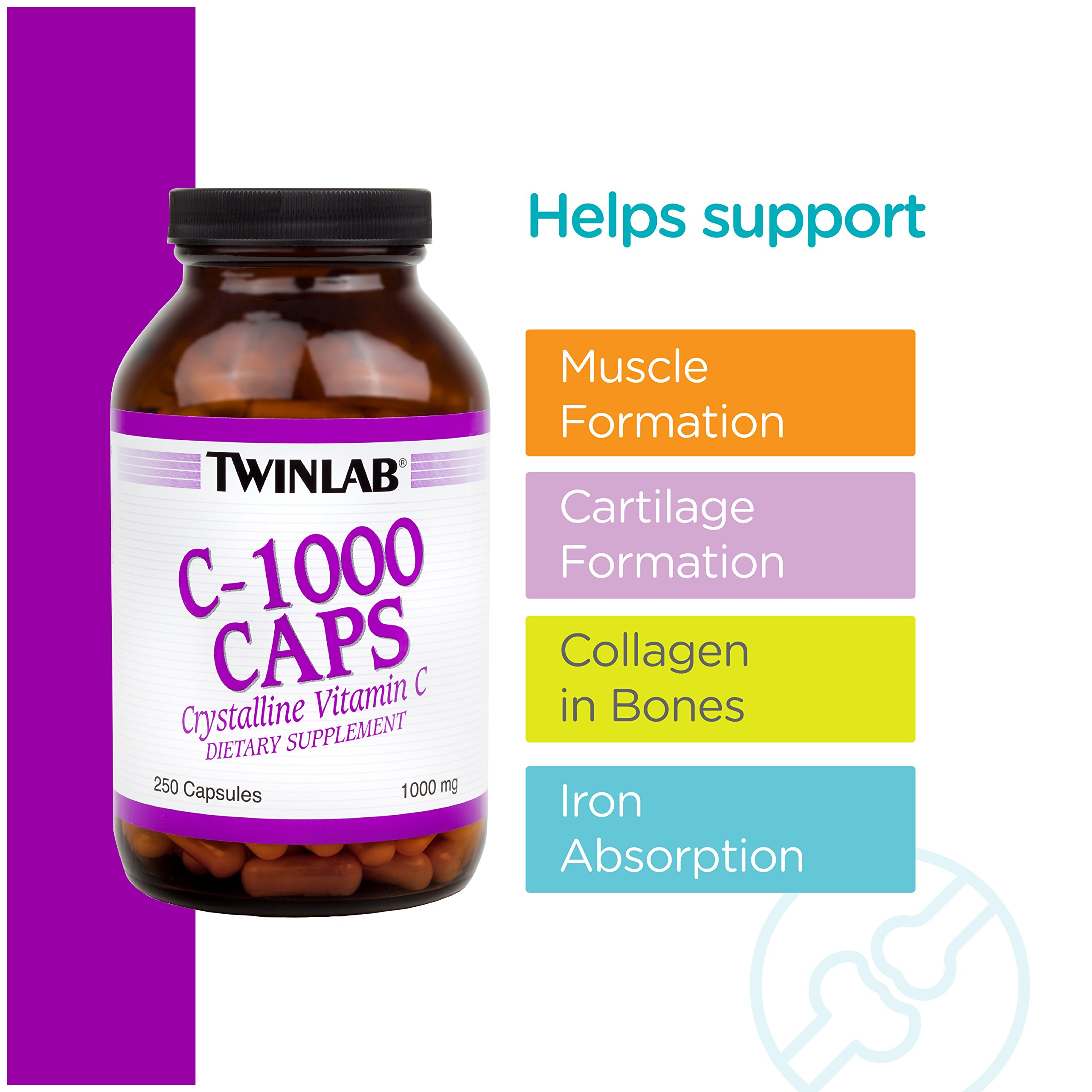 Twinlab C-1000 Caps, 1000mg, 250 Capsules (Pack of 2) by Twinlab (Image #5)