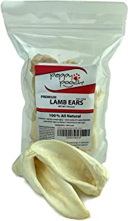 product image for Peppy Pooch Lamb Ears Treats 10 Pack – All Natural, Low Odor Dog Chews.