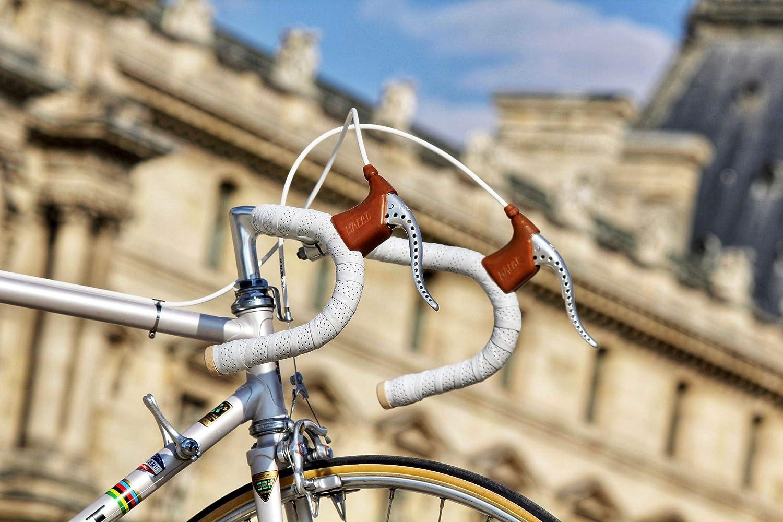 Guidoline pour poign/ée de Bicyclette Cuir Accessoires v/élo de Course Gusti Ruban pour Guidon de Bicyclette Cuir li/ège Fausto C