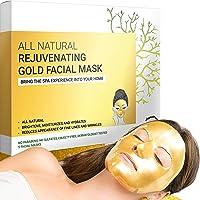 Premium Hydrogel Gold gezichtsmaskers voor huidverzorging en schoonheid, hydraterend en anti-aging - gezichtsmasker met…