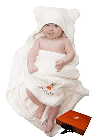 f588025d6 Premium Baby Hooded Towel | Ultra Soft 100% Organic Bamboo Hooded Towel  (600 GSM
