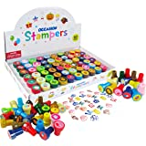 TINYMILLS 60 Pcs Holidays and Occasions Assorted Stampers for Kids