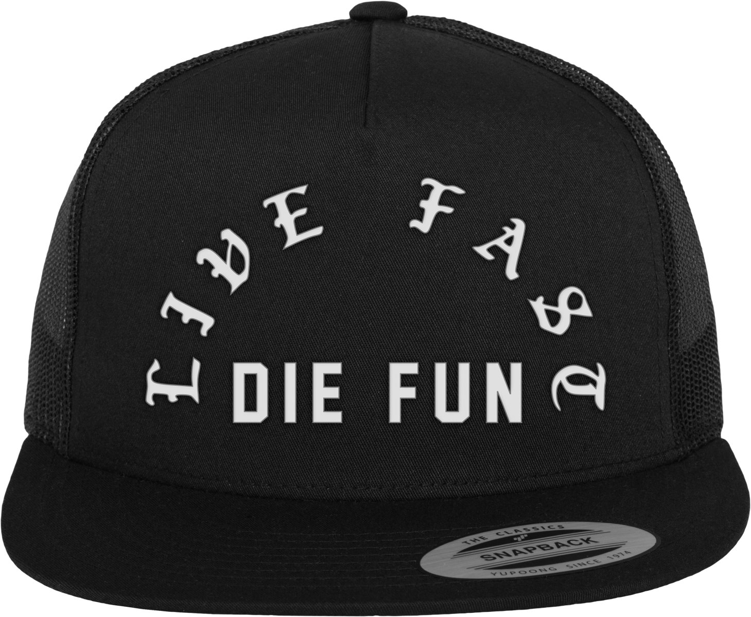 Famous Stars and Straps Famous Live Fast Die Fun Trucker Cap, Black, One size FA035