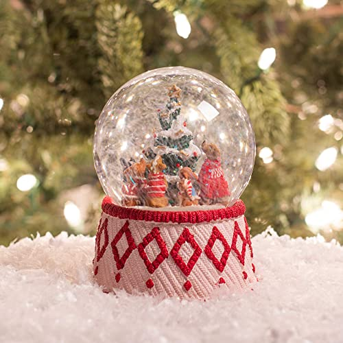 Winter Dogs Holiday 5 x 5.75 Resin Decorative Snow Globe