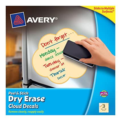 amazon com avery peel and stick dry erase decals 10 x 10 inches