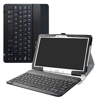 Labanema Samsung Galaxy Tab S 10.5 Teclado Funda, PU Estuche con Wireless Teclado Cover QWERTY