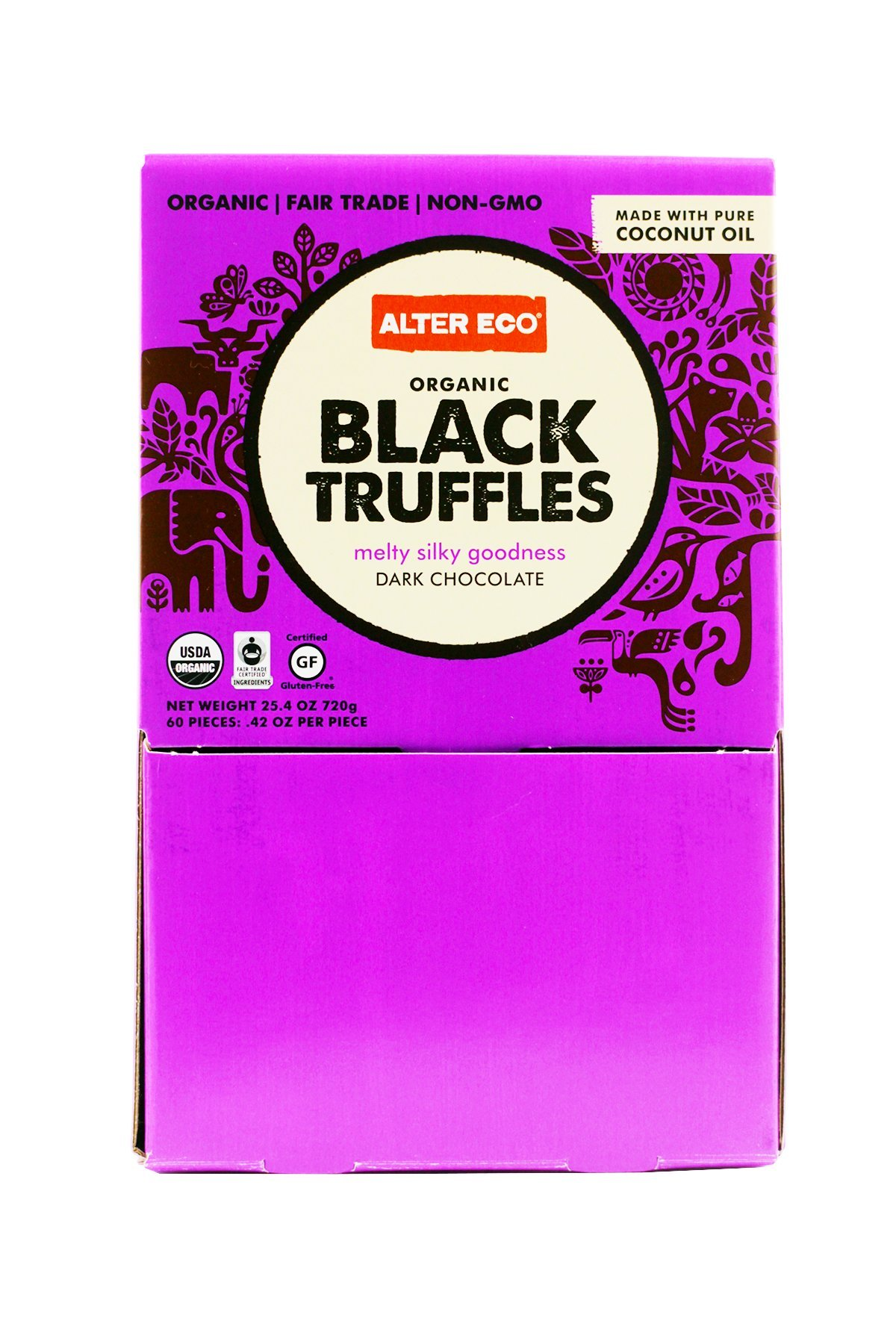 Alter Eco Organic Black Truffles, 0.42 Ounce (Pack of 60) by Alter Eco