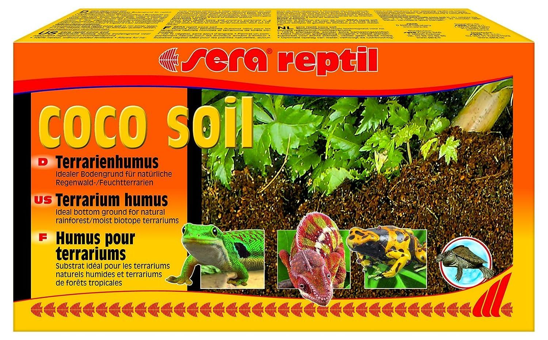 Sera 32042 Reptile Coconut Fibre Coco Soil 8 Litres Terrarium Humus