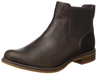 Timberland Damen Magby Low Chelsea Boots, Braun (Dark Brown Full Grain), 41 EU