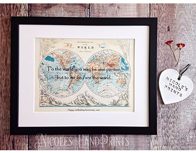 Personalised map gifts wedding anniversary gifts to the world personalised map gifts wedding anniversary gifts to the world you are one person paper anniversary gifts for him anniversary presents personalised gumiabroncs Images