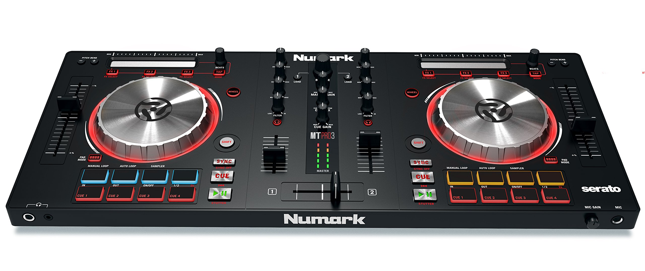 Numark Mixtrack Pro 3 | USB DJ Controller with Trigger Pads & Serato DJ Intro Download (Includes Built-In Sound Card) by Numark (Image #8)