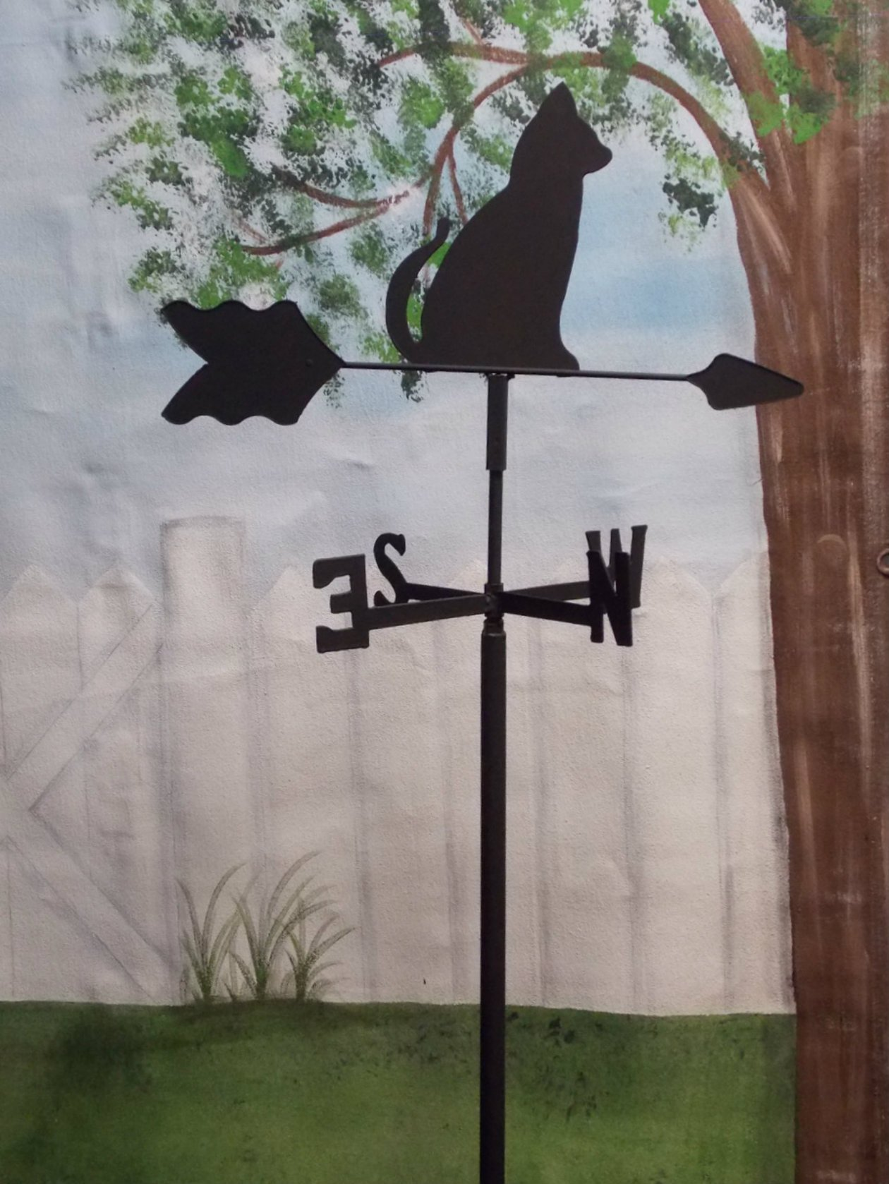 Cat Garden Style Weathervane Wrought Iron by The Lazy Scroll