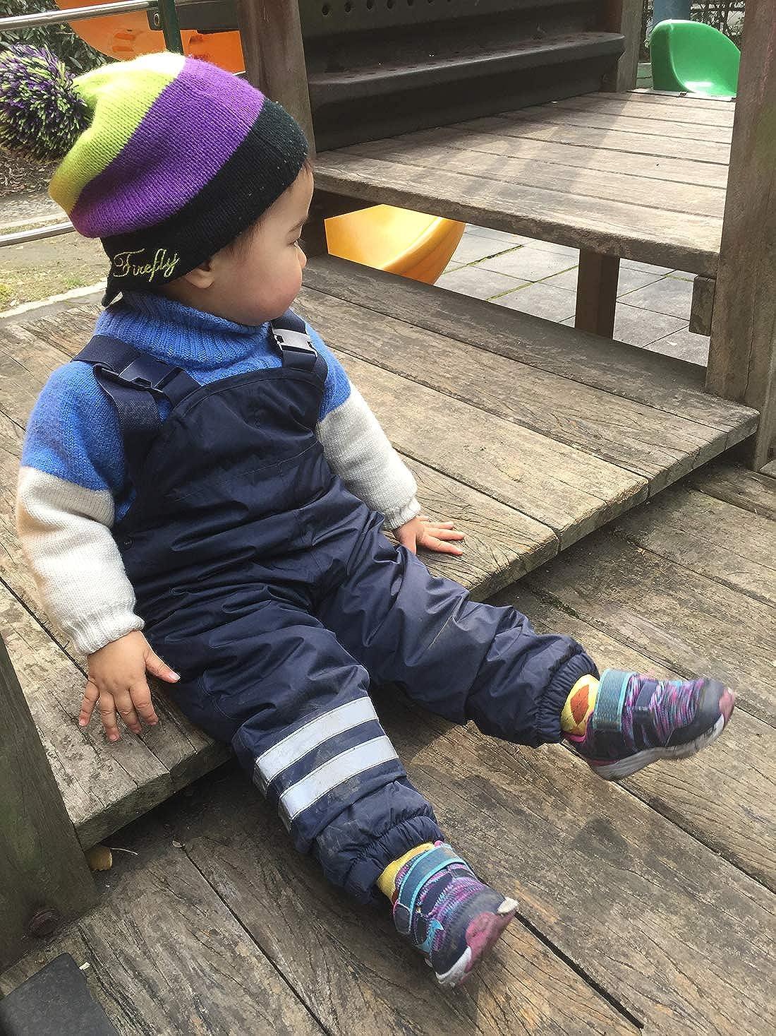 Pantaloni Tuta Antipioggia Disponibile in Varie Taglie per Bimbi da 3 a 8 Anni umkaumka Salopette Impermeabile Felpata da Bambino e Bambina