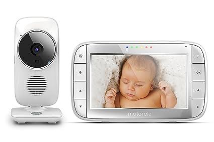 Motorola MBP 48 - Sistema de vigilancia para bebés con cámara, 5 pulgadas