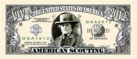 GIRL SCOUT OF AMERICA 100TH ANNIVERSARY ONE MILLION DOLLAR NOVELTY PLAY MONEY