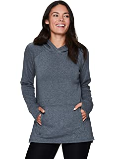 RBX Active Womens Plus Size French Terry Long Sleeve Pullover Hoody