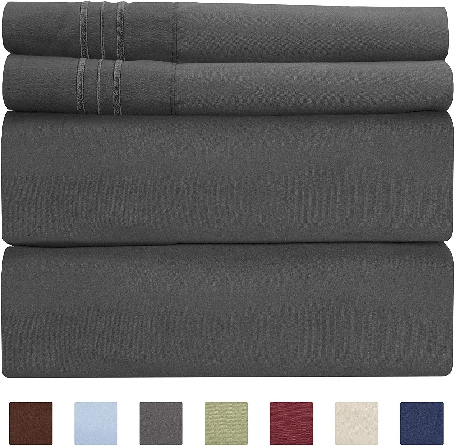 Extra Deep Pocket Sheets - 4 Piece Sheet Set - Queen Sheets Deep Pocket- Extra Deep Pocket Queen Sheets - Deep Fitted Sheet Set - Extra Deep Pocket Queen Size Sheets - Easily Fits Extra Deep Mattress