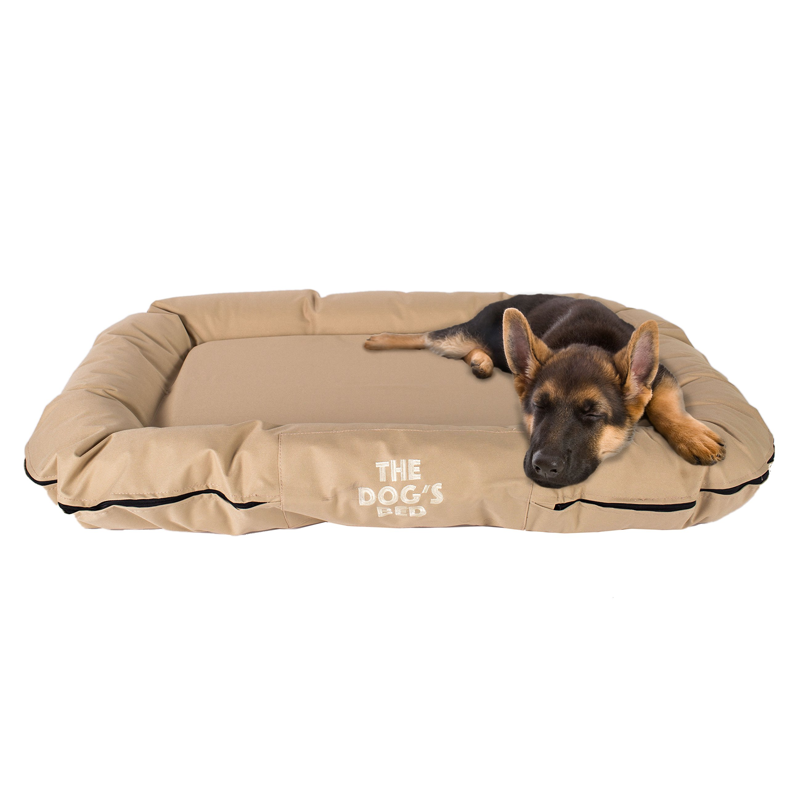 The Dog's Bed, Premium Dog Beds, Premium Quality Water Resistant Oxford Fabric & Designed for Comfort, Washable Cover, Boarding Kennel Favorite