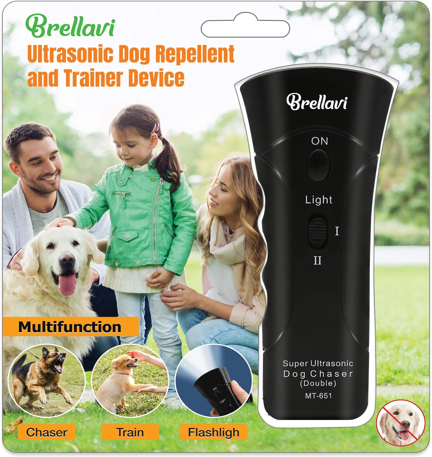Dog Repellent and Trainer, Dog Repellent Device with LED Flashlight, Dogs Good Behavior Training, Safe to Walk The Dog Outdoor, Best Handheld Dog Repellent and Trainer, Black