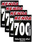 Kenda 700x18-23c Bicycle Inner Tubes - 48mm Long Presta Valve - FOUR (4) PACK