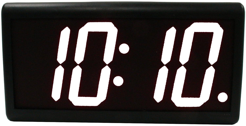 Doble-cara 10,16 cm blanco 6 dígitos de alimentación de CA externa LED Digital reloj de pared: Amazon.es: Hogar