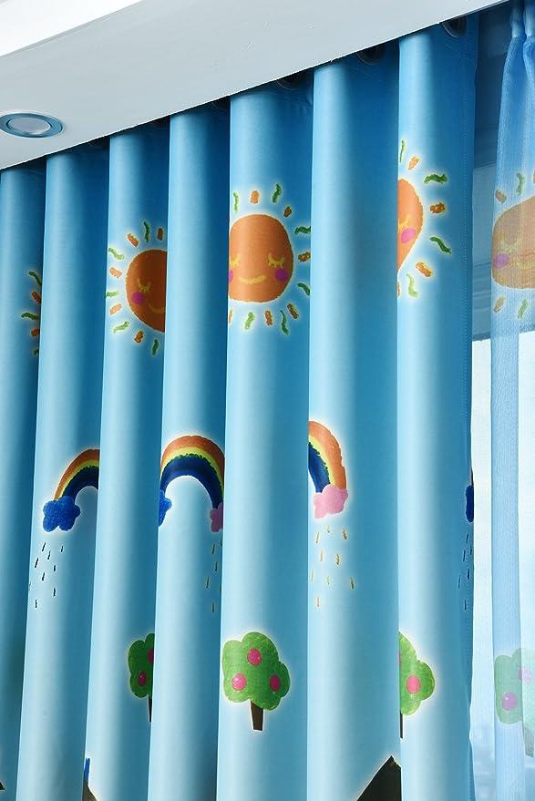Amazon.de: 2er-Set Bunte Bleistift Esszimmer Vorhänge, Kinderzimmer ...