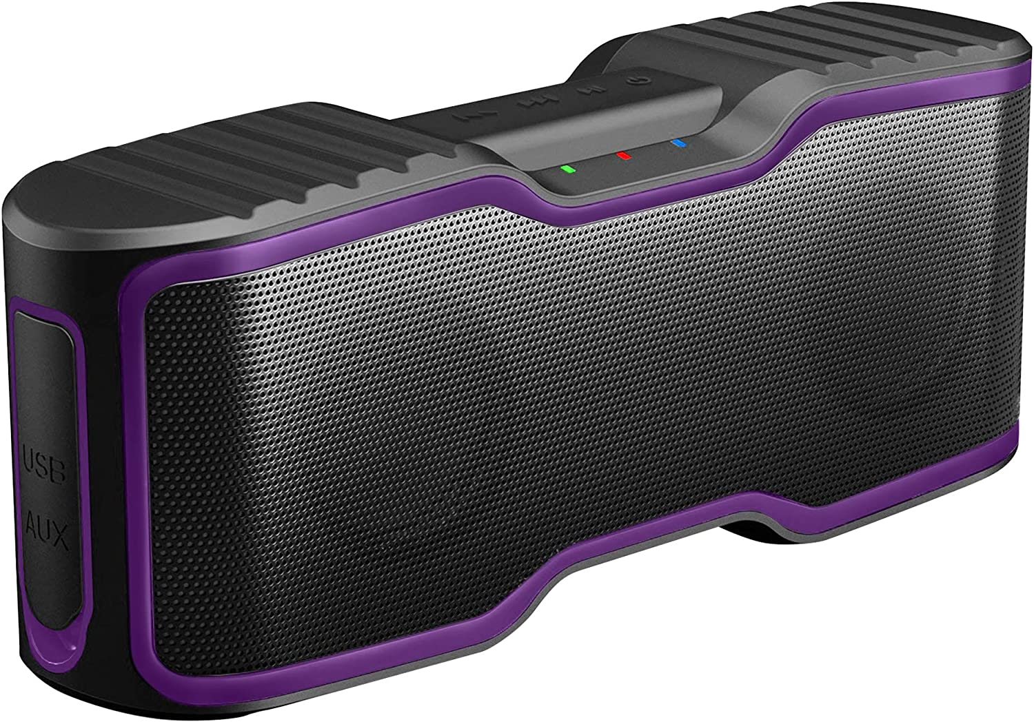 AOMAIS Sport II Portable Wireless Bluetooth Speakers Waterproof IPX7, 15H Playtime, V5.0, 20W Bass Sound, Stereo Pairing, for Outdoors, Travel, Pool, Home Party 2020 Upgrade Purple