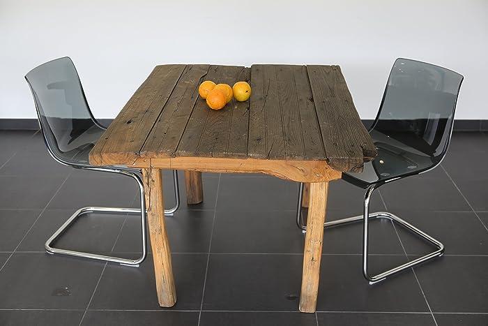 Tisch Aus Alter Tür rustikaler handgefertigter tisch aus alter kastanienholz tuer