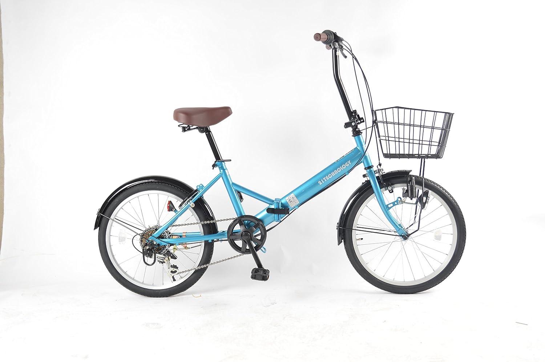 21Technology BL206 折りたたみ自転車20インチ シマノ6段変速 B079YB1VTY ライトブルー ライトブルー